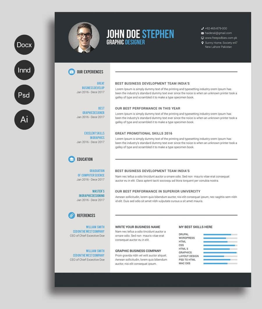 Free Ms.word Resume And Cv Template   Free Cv Template Word With Regard To Free Resume Template Microsoft Word