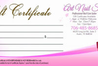 Free Nail Salon A Street Design For Template Nail Salon Gift pertaining to Salon Gift Certificate Template