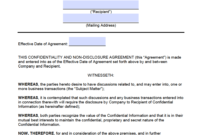 Free New Jersey Non-Disclosure Agreement (Nda) Template regarding Nda Template Word Document