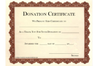 Free-New-Templates-Donation-Certificate-Template with regard to Certificate Of Ownership Template