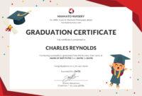 Free Nursery Graduation Certificate   Graduation Certificate for Graduation Certificate Template Word