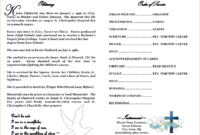 Free Obituary Template Download Luxury How To Write An Intended For Fill In The Blank Obituary Template