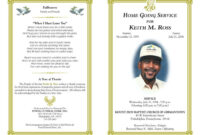 Free Obituary Template | Funeral Program Template Free regarding Free Obituary Template For Microsoft Word