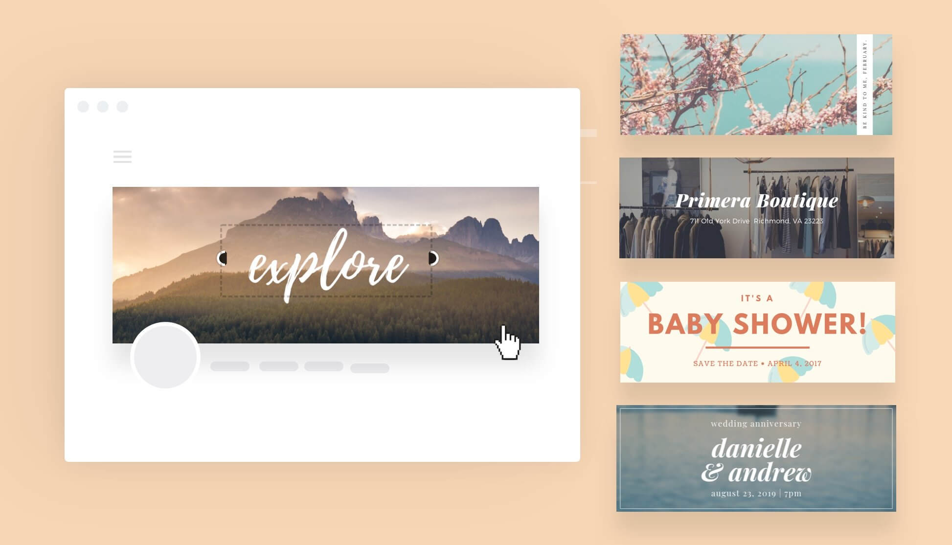 Free Online Banner Maker: Design Custom Banners In Canva Regarding Free Online Banner Templates