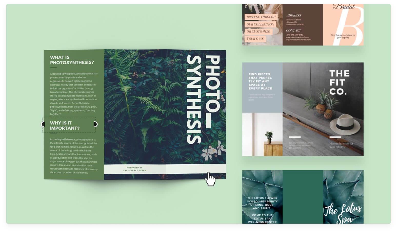 Free Online Brochure Maker: Design A Custom Brochure In Canva Inside Free Online Tri Fold Brochure Template