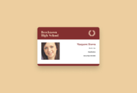 Free Online Id Maker: Design A Custom Id In Canva pertaining to High School Id Card Template
