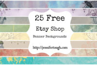 Free Online Stores Like Etsy | La Confédération Nationale Du with regard to Etsy Banner Template