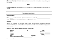 Free Personal Loan Agreement Form Template – $1000 Approved regarding Blank Loan Agreement Template
