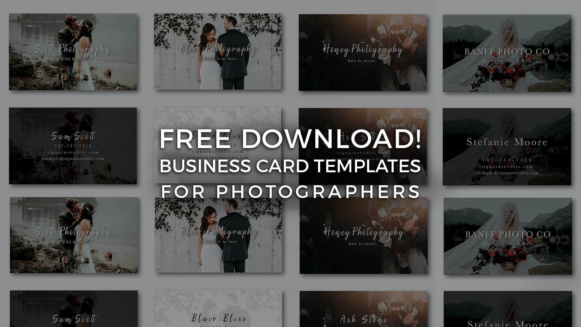 Free Photographer Business Card Templates! - Signature Edits Throughout Free Business Card Templates For Photographers