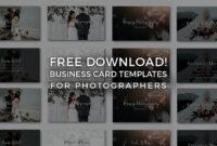 Free Photographer Business Card Templates! – Signature Edits within Photography Business Card Template Photoshop