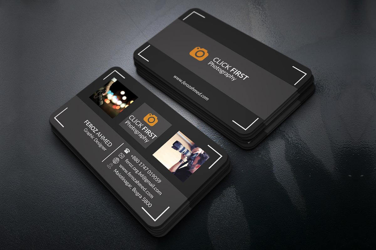 Free Photography Business Card Template - Creativetacos For Free Business Card Templates For Photographers