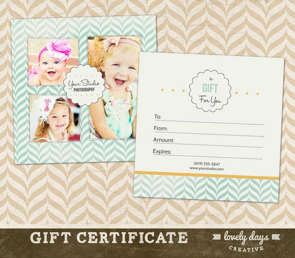 Free Photography Gift Certificate Template Photoshop Throughout Gift Certificate Template Photoshop