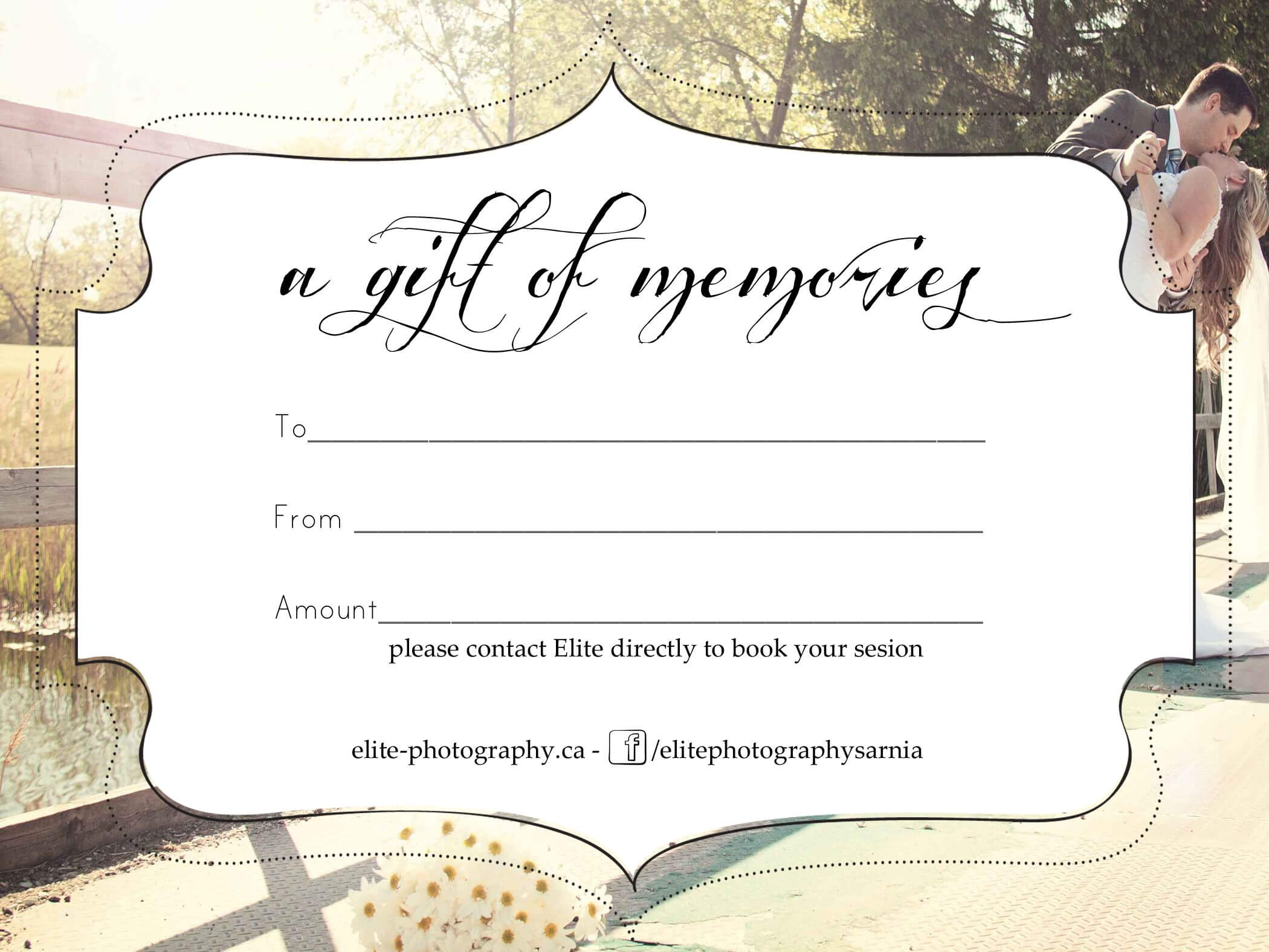 Free Photography Gift Certificate Throughout Free Photography Gift Certificate Template