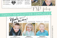 Free Photoshop Download + Year In Review Newsletters with Free Photoshop Christmas Card Templates For Photographers