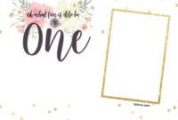 Free Printabe Boho Chic First Birthday Invitation Templates inside Blank Templates For Invitations