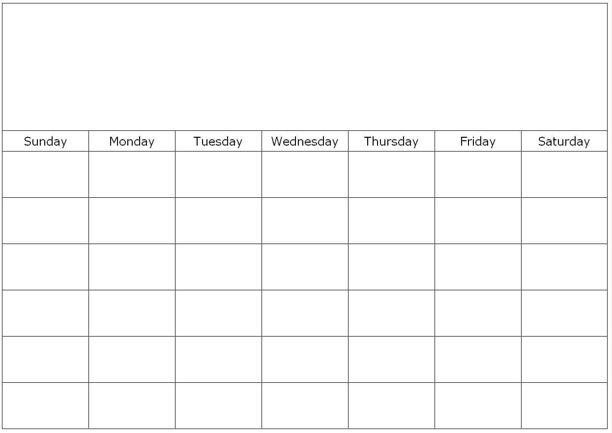 Free Printable 1 Month Calendar | You Can Find This Calendar Throughout Blank One Month Calendar Template