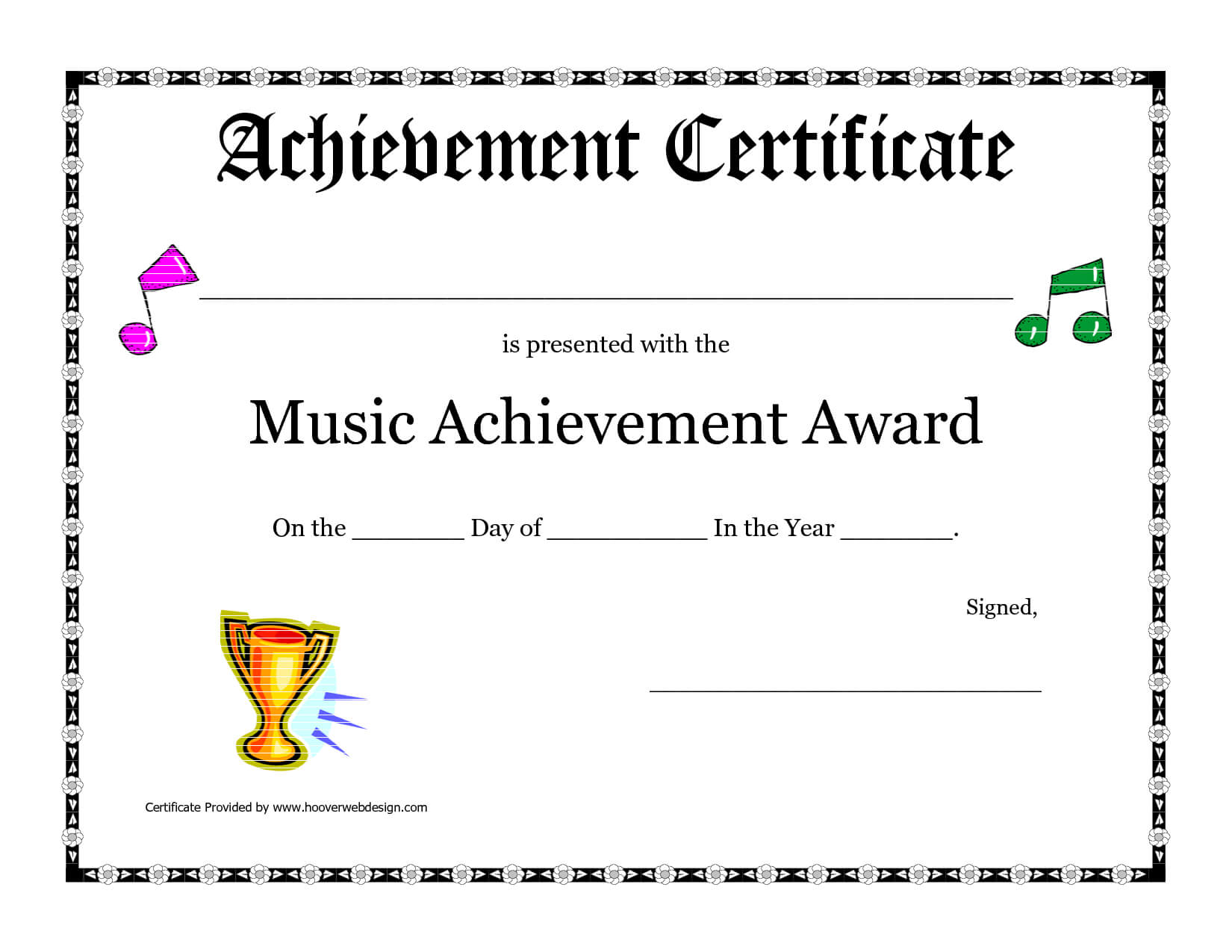 Free Printable Achievement Award Certificate Template Throughout Hayes Certificate Templates