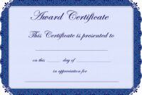 Free Printable Award Certificate Borders | Award In Free with regard to Free Printable Certificate Of Achievement Template