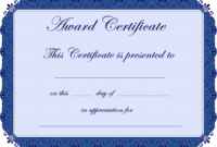 Free Printable Award Certificate Borders |  Award with Free Funny Award Certificate Templates For Word