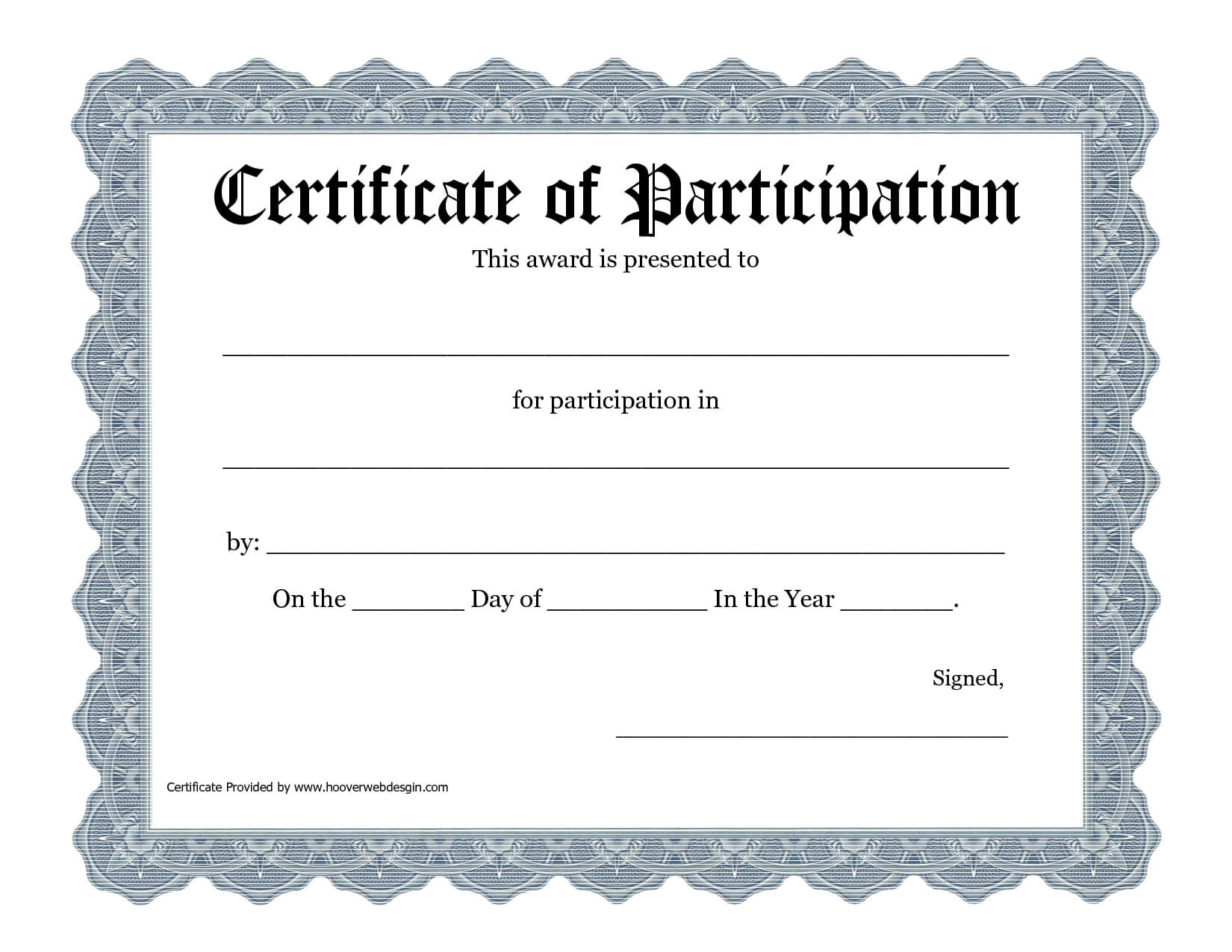 Free Printable Award Certificate Template - Bing Images For Certification Of Participation Free Template
