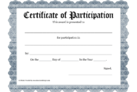 Free Printable Award Certificate Template – Bing Images Inside Participation Certificate Templates Free Download