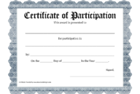 Free Printable Award Certificate Template – Bing Images throughout Certificate Of Participation Template Word