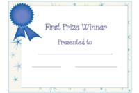 Free Printable Award Certificate Template | Free Printable for First Place Award Certificate Template