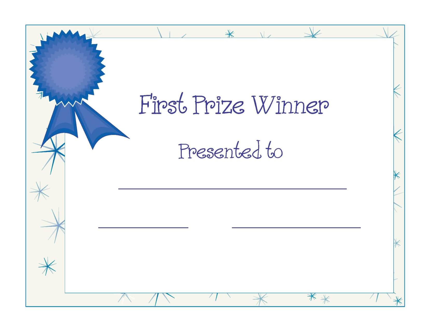 Free Printable Award Certificate Template   Free Printable In Free Printable Blank Award Certificate Templates