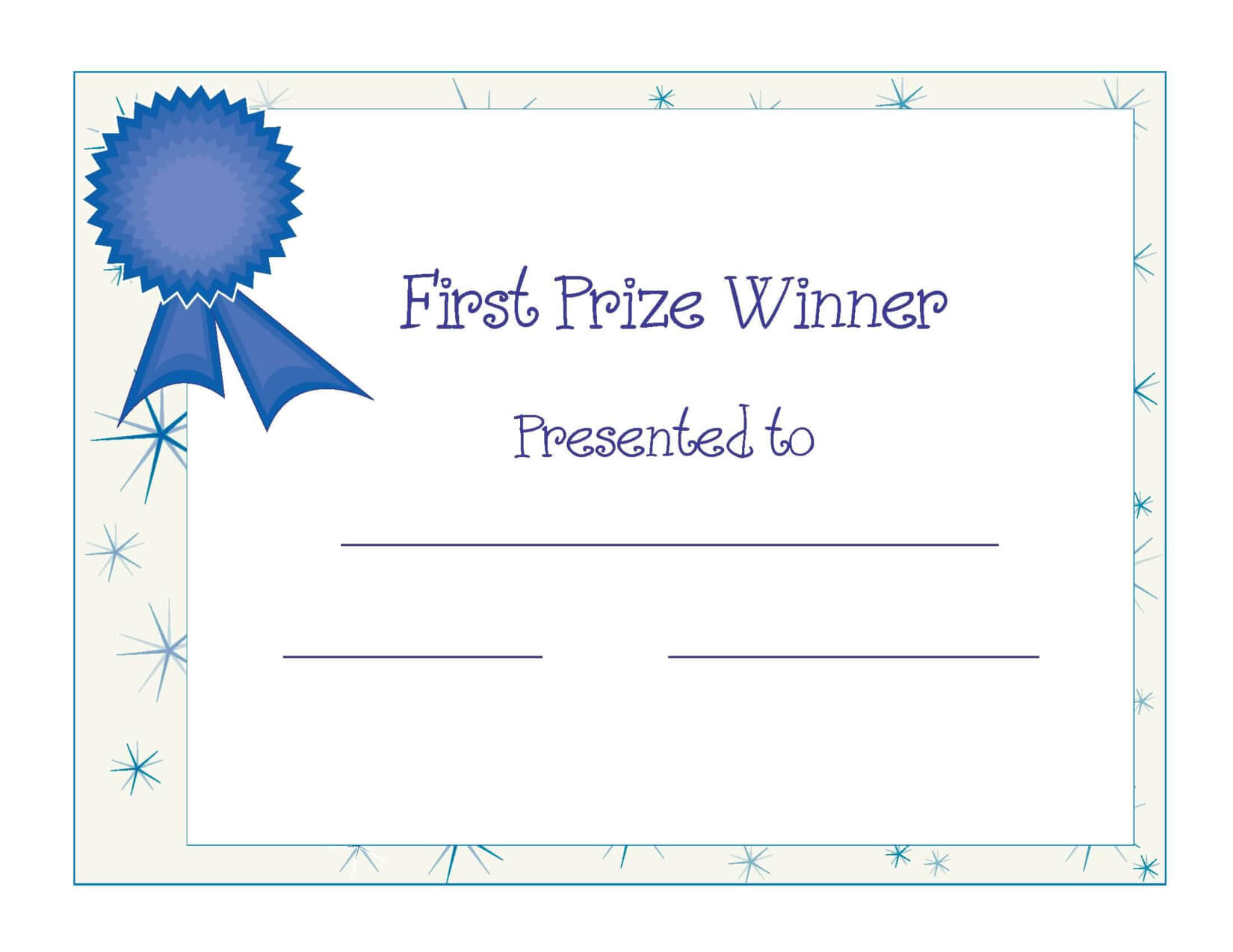 Free Printable Award Certificate Template | Free Printable Intended For Winner Certificate Template