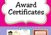Free Printable Award Certificates For Kids | Award For Sports Day Certificate Templates Free