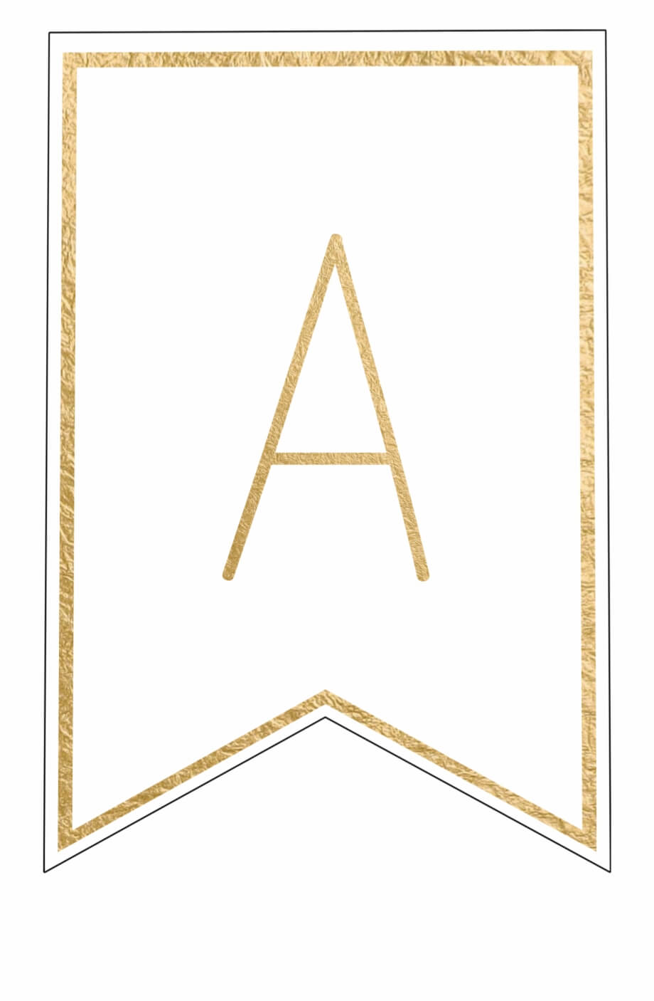 Free Printable Banner Letters Template - Letter Png Gold Inside Printable Letter Templates For Banners