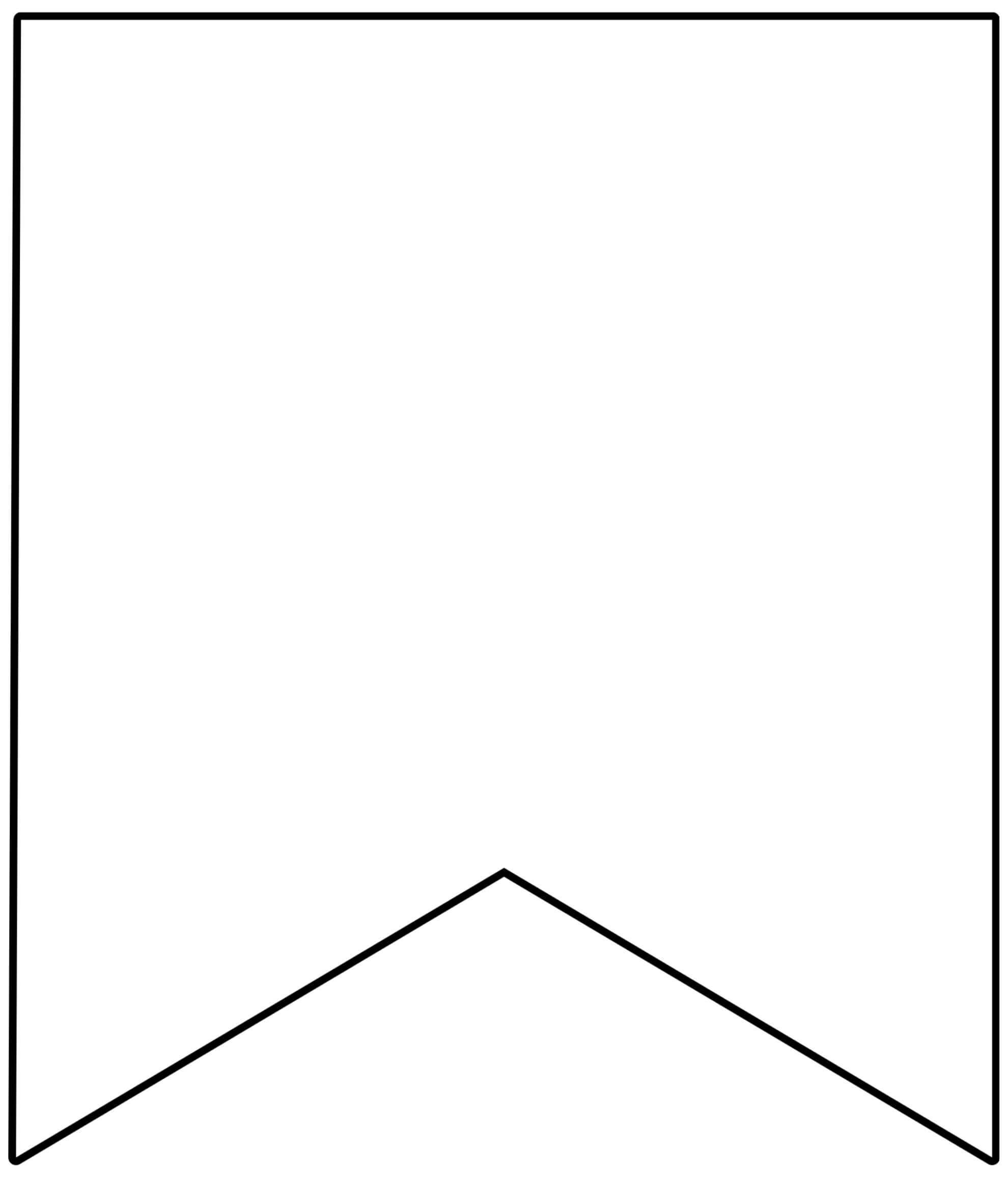 Free Printable Banner Templates {Blank Banners} - Paper In Printable Pennant Banner Template Free