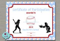 Free Printable Baseball Award Certificates Templates pertaining to Softball Award Certificate Template