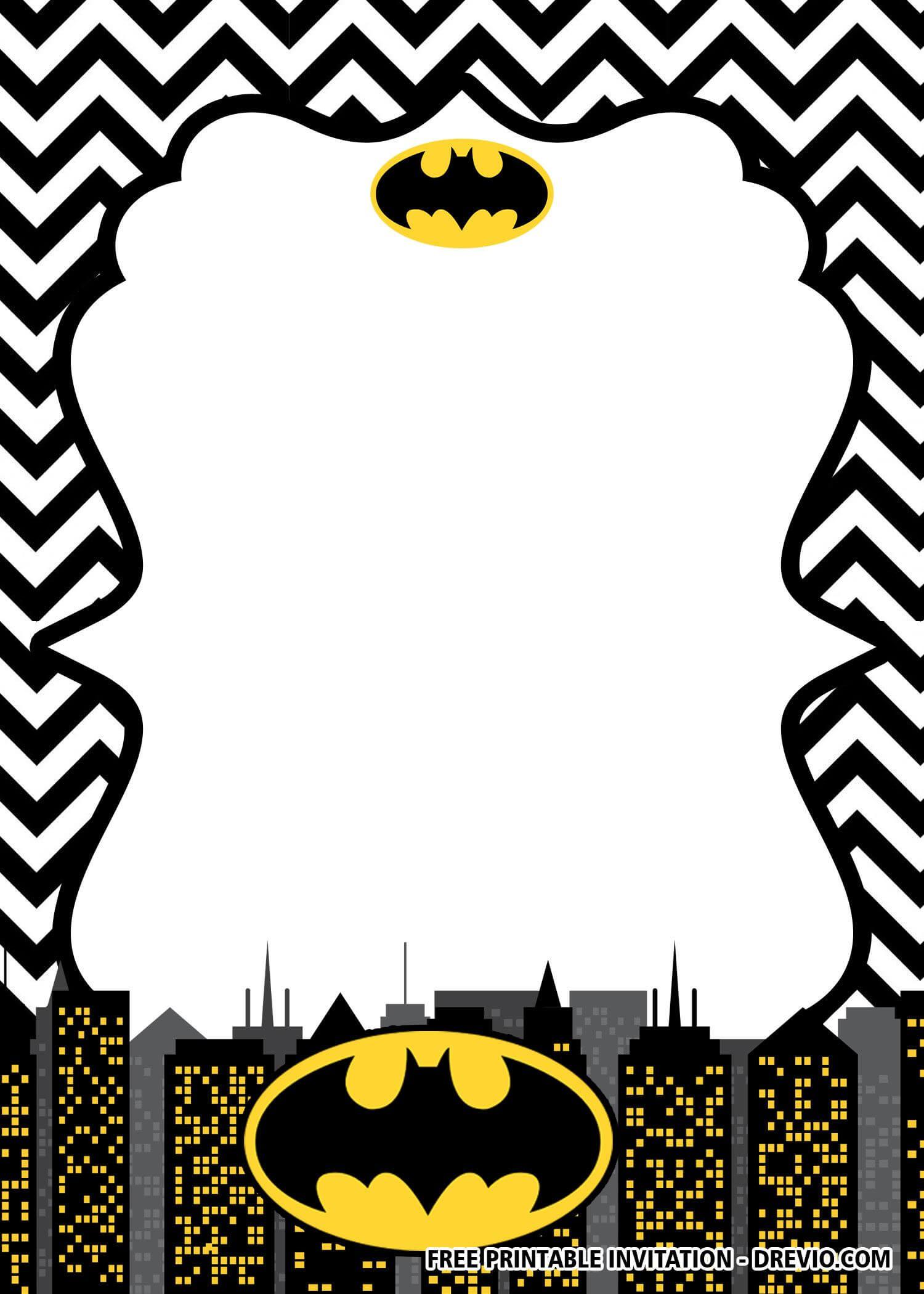 Free Printable Batman Birthday Invitation Templates | Batman Inside Batman Birthday Card Template