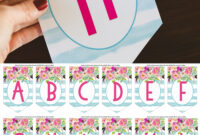 Free Printable Birthday Banner – Six Clever Sisters in Diy Birthday Banner Template
