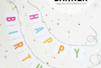 Free Printable Birthday Banners – The Girl Creative inside Diy Banner Template Free