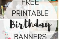 Free Printable Birthday Banners – The Girl Creative regarding Free Printable Party Banner Templates