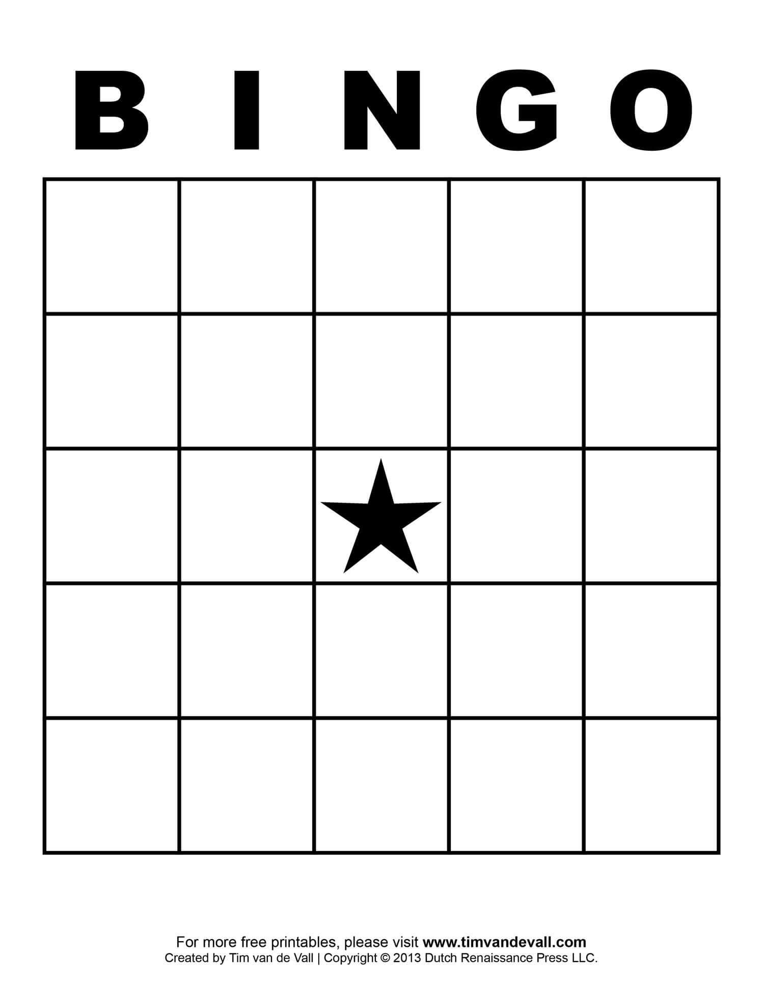 Free Printable Blank Bingo Cards Template 4 X 4 | Bingo Card Intended For Blank Bingo Template Pdf