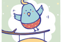 Free Printable Bluebird Of Happiness Greeting Card For Good Luck Card Template