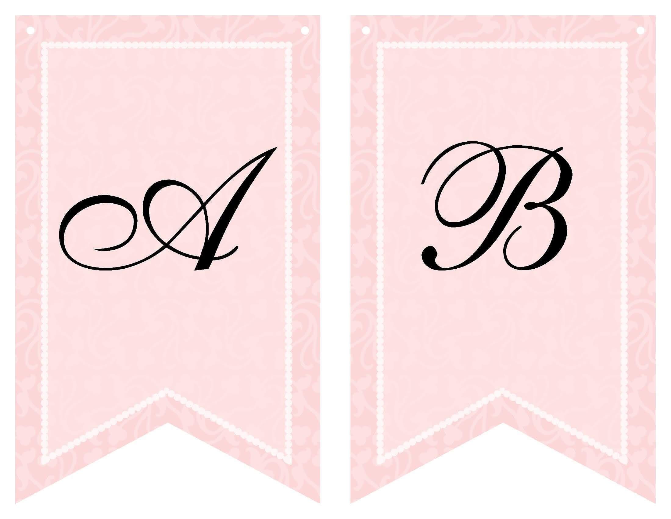 Free Printable Bridal Shower Banner | Baby Shower Templates With Free Bridal Shower Banner Template
