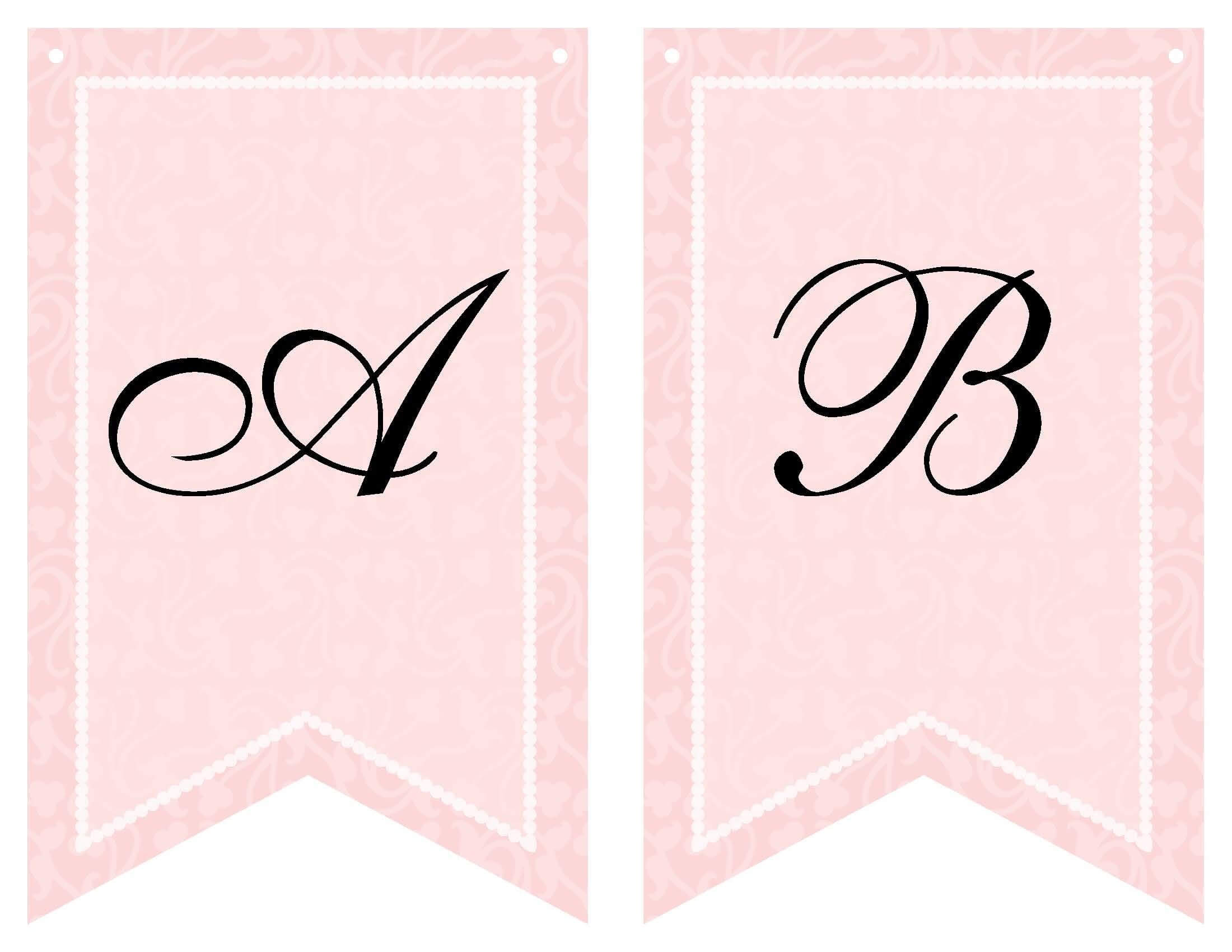 Free Printable Bridal Shower Banner | Baby Shower Templates Within Bride To Be Banner Template