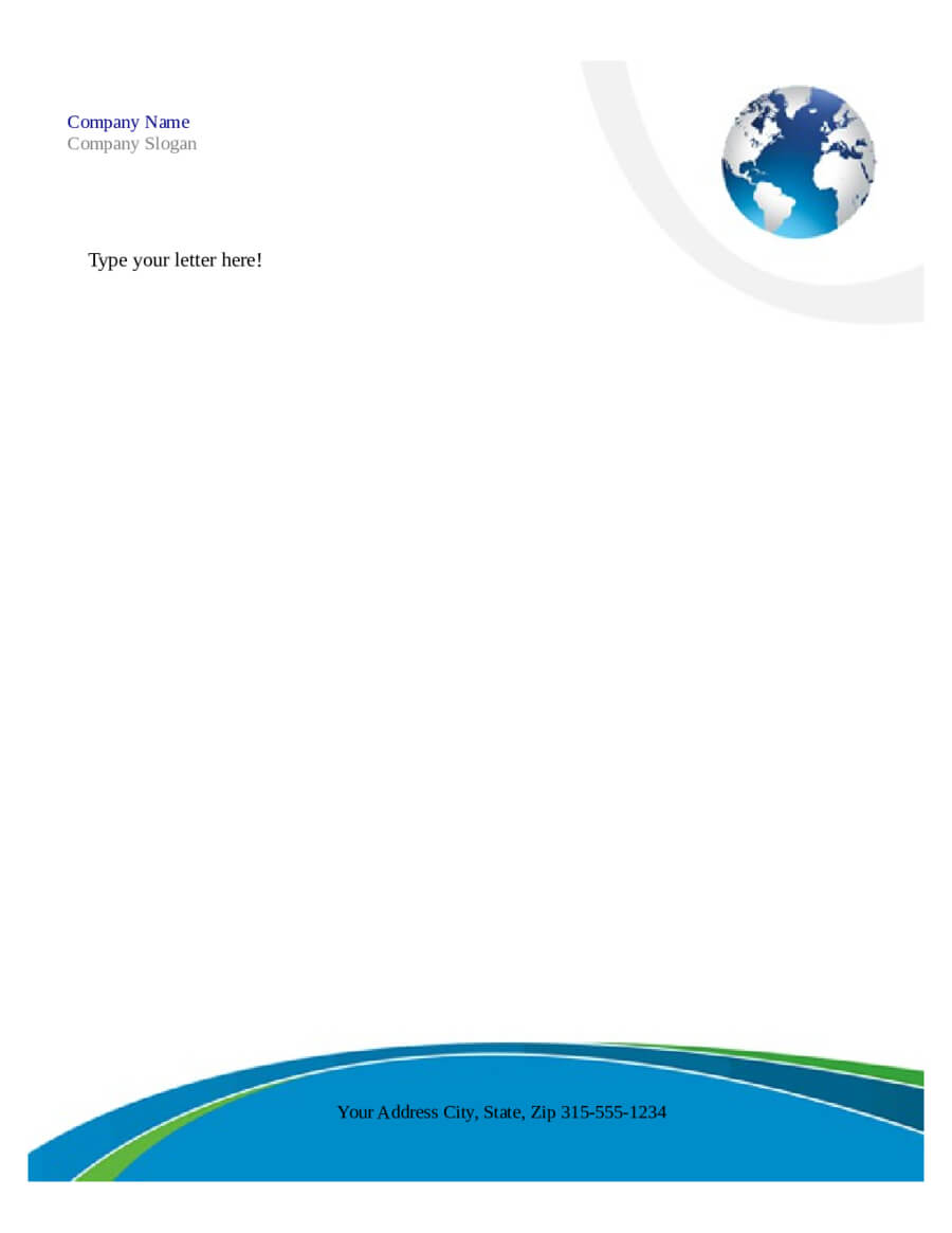 Free Printable Business Letterhead Templates Microsoft Word Inside Word Stationery Template Free