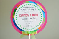 Free Printable Candyland Invitation Templates |  Than I within Blank Candyland Template