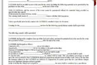 Free Printable Catering Services Agreement | Sample pertaining to Catering Contract Template Word