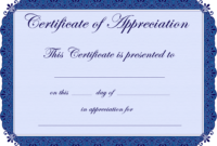 Free Printable Certificates Certificate Of Appreciation inside Sample Certificate Of Recognition Template