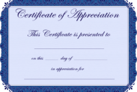 Free Printable Certificates Certificate Of Appreciation regarding Free Template For Certificate Of Recognition