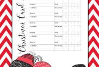 Free Printable Christmas Gift List Template throughout Christmas Card List Template