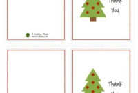 Free Printable Christmas Note Cards – Forza.mbiconsultingltd within Christmas Thank You Card Templates Free