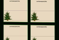 Free Printable Christmas Tree Place Cards | Christmas Place inside Table Name Cards Template Free