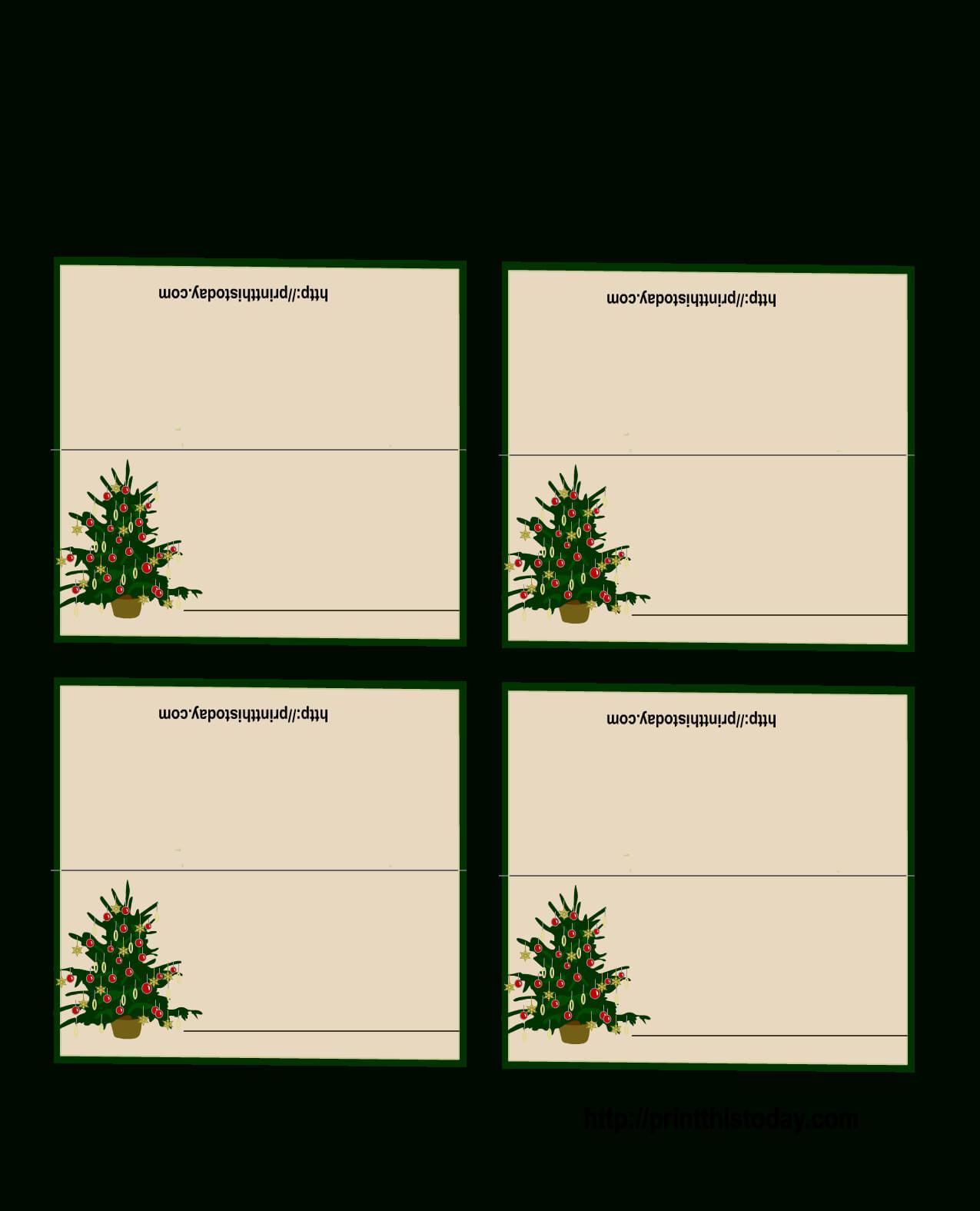 Free Printable Christmas Tree Place Cards | Christmas Place With Regard To Christmas Table Place Cards Template